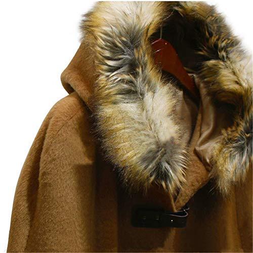 Invernale La Mantella Sintetica Collo In Pelliccia Avvolgente brown Lagenlook Di Brown Luckgxy Foulard Festa Con Nozze E Scialle Paglia Per wTpOIqIgx