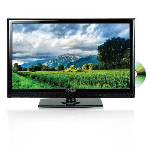 (Axess 15.6-Inch LED HDTV, Includes AC/DC TV, DVD Player, HDMI/SD/USB Inputs, TVD1801-15)