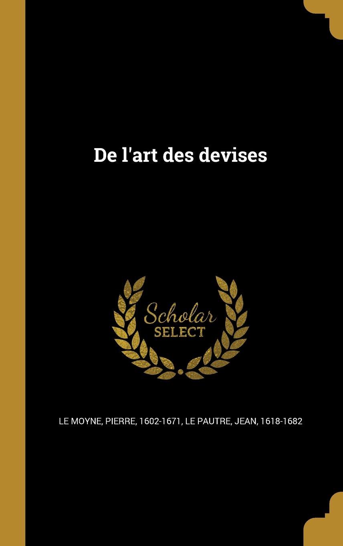 Download de L'Art Des Devises (French Edition) pdf epub