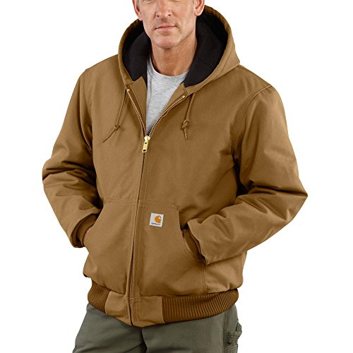 Carhartt Men's J140 Duck Active Jacket - Quilted Flannel Lined - Medium Tall Brown