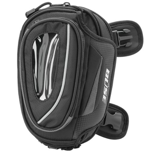 Büse/coscia–Tasca sulla gamba–Borsa Moto in nero