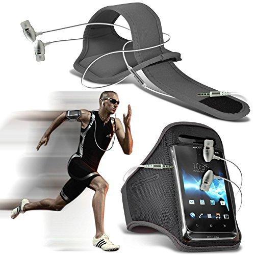 N4U Online Étui ®–Apple iPhone 5s Drap-housse de protection élégant brassards Sports Running Vélo cyclisme gymnastique Jogging débarrasser bras Band cas avec housse de qualité supérieure en Ear Buds