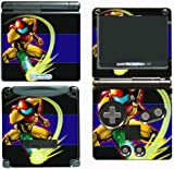 Super Metroid Prime Samus Fusion Video Game Vinyl Decal Skin Sticker Cover for Nintendo GBA SP Gameboy Advance System