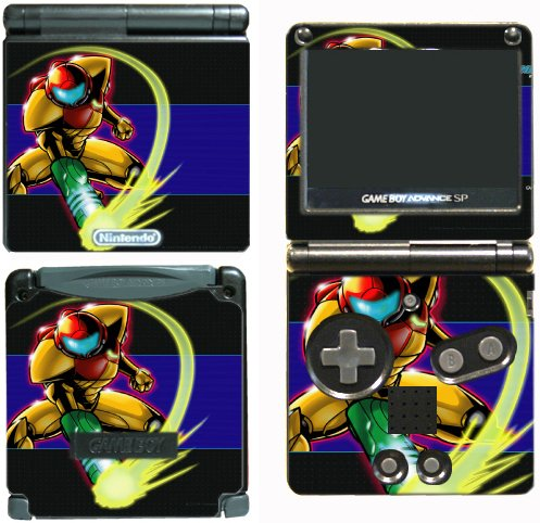 Super Metroid Prime Samus Fusion Video Game Vinyl Decal Skin Sticker Cover for Nintendo GBA SP Gameboy Advance System (Boy Metroid Game)