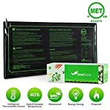 MET Certified 2 Pack Seedling Heat Mat, Seedfactor Waterproof Durable Germination Station Heat Mat, Warm Hydroponic Heating Pad for Indoor Home Gardening Seed Starter(10'' X 20'')