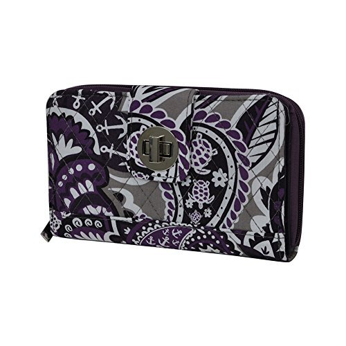 Purple Paisley NGIL Quilted Twist Lock Wallet - Paisley Quilted Wallet
