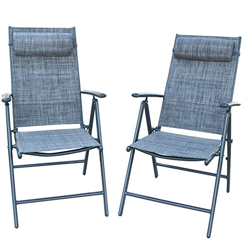 Outdoor Patio Furniture Sale Amazon: PatioPost Folding Chairs Adjustable Outdoor Recliner Patio