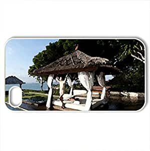 AhA itS b3Autiful,,,:) - Case Cover for iPhone 4 and 4s (Beaches Series, Watercolor style, White)