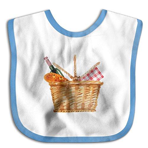 Jarstinn Picnic Elements In Basket Wine Bread Dribbler Baby Burp Set Bibs