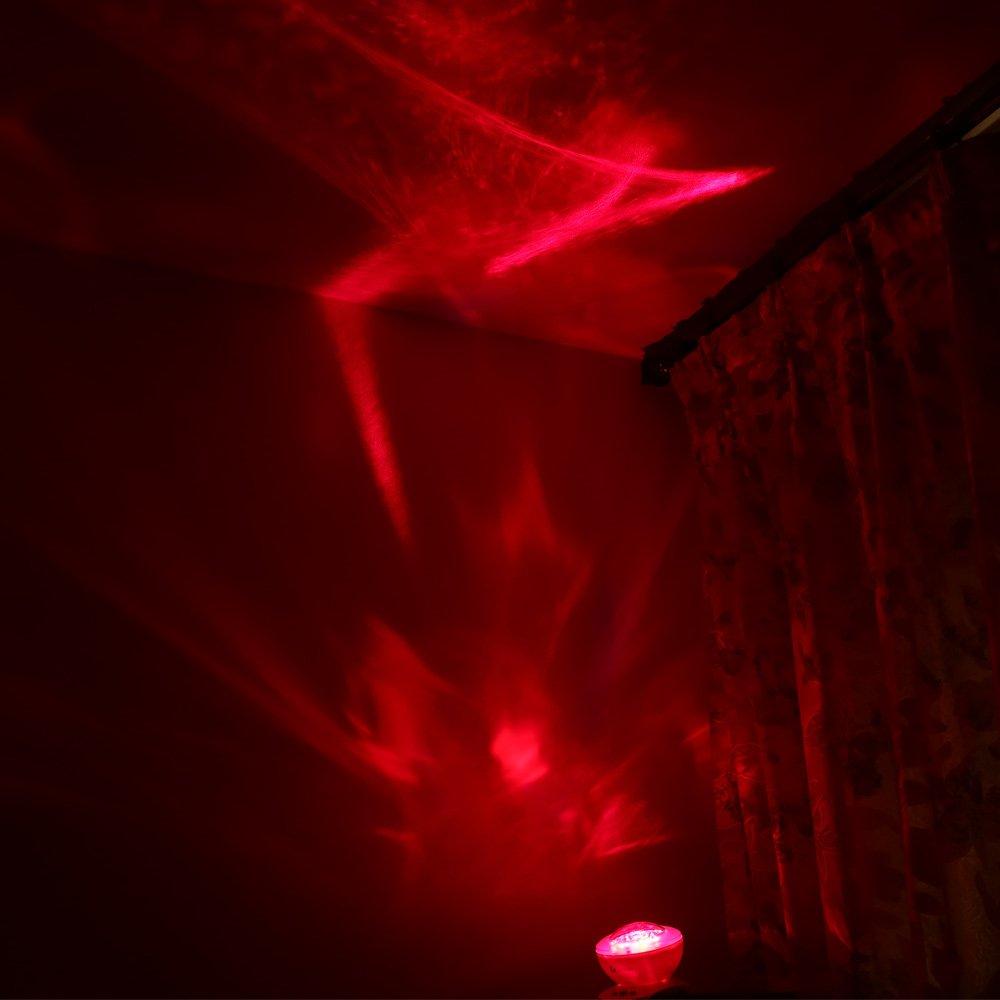 lederTEK Proyector de Diamente Aurora de Colores con 8 Modos con Música para un Ambiente Relajante en Sala, Dormitorio (Rojo)