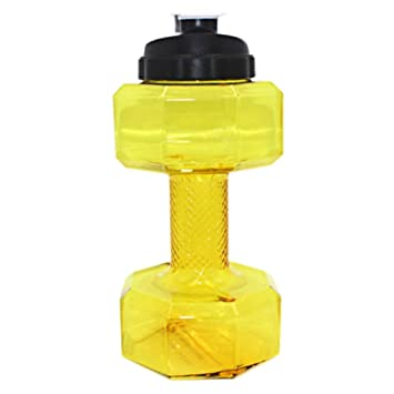 Ejercicio botella de agua, bescita 2.2 L PETG mancuernas grande botella de agua libre Deportes Running Fitness eléctrica Gimnasio amarillo: Amazon.es: Hogar