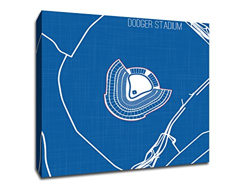Cool Modern Art showcasing Los Angeles's Dodger Stadium Printed on Gallery Wrapped Canvas. Wall Décor for Your Living Room, Office, Den, Bedroom, etc. from Tube to Wall in Minutes. ()