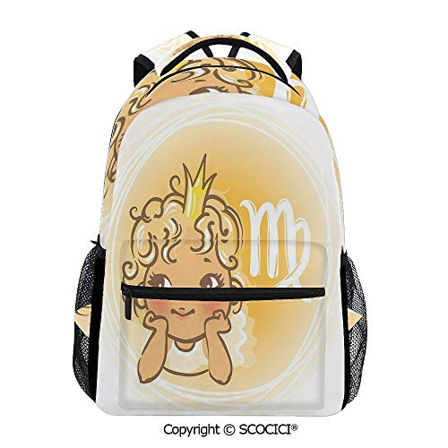 SCOCICI Casual Daypack Baby Zodiac Representation,Gift for Starting School