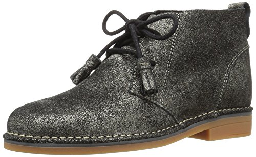 Hush Puppies Womens Cyra Catelyn Boot Gunmetal Glitter Leather