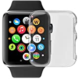 Apple Watch Case, LUVVITT® SUPER EASY Snap-on Case for Apple Watch 42mm with Built-in Screen Protector | Hard Cover for Apple Watch | Crystal Clear Case for Apple Watch | for All Editions - 42 mm