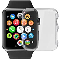 Apple Watch Series 2 Case, LUVVITT [Super Easy] Built-in Screen Protector Snap-On Case Hard Cover for Apple Watch - Clear 38 mm