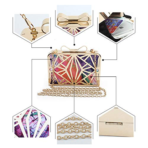 Orange Handbag Bridal Evening Clutch Case Mini Banquet Yoome Hard Purse Bag Women wPzfnFgq