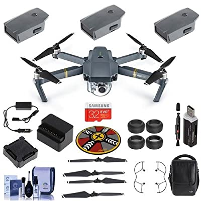 "DJI Mavic Pro - Fly More Combo "" Basic Kit "" Includes 32GB SDHC Card, Propeller Guard, Freewell ND/CP Filter Kit 4 Pack, xpoImaging Collapsible Pad, Cleaning Kit, Card Reader"