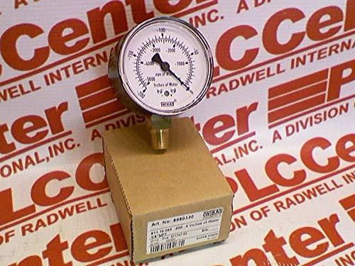 WIKA 8980330 Manometer Gauge 2-1//4IN FACE 1//4IN NPT BOTM MNT