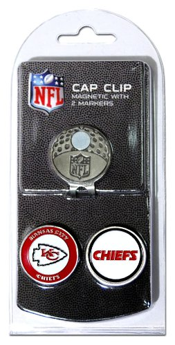NFL Kansas City Chiefs Cap Clip With 2 Golf Ball Markers