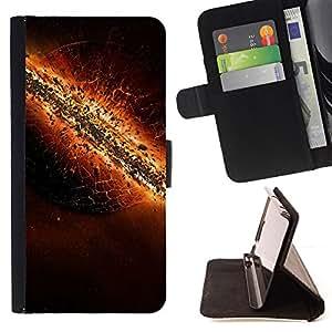 BullDog Case - FOR/LG OPTIMUS L90 / - / The destruction of Earth /- Monedero de cuero de la PU Llevar cubierta de la caja con el ID Credit Card Slots Flip funda de cuer