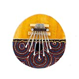 Kalimba Thumb Piano - 7 keys - Tunable - Coconut