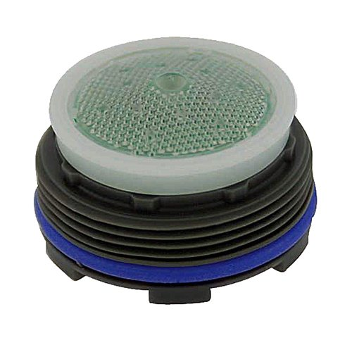 Neoperl 13 0260 2 Economy Flow PCA Cache Perlator HC Aerator, Standard Size, 1.5 GPM, Green/Clear Dome, Honeycomb Screen, Aerated Stream, M24 x 1 Threads, Plastic, 0.591'' Height (Pack of 6)