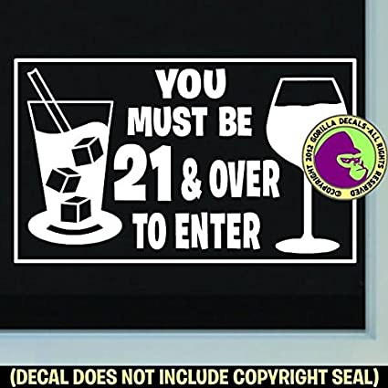 13165e3426760 Amazon.com: MUST BE 21 & OVER TO ENTER Bar Club Dance Strip and Pub ...