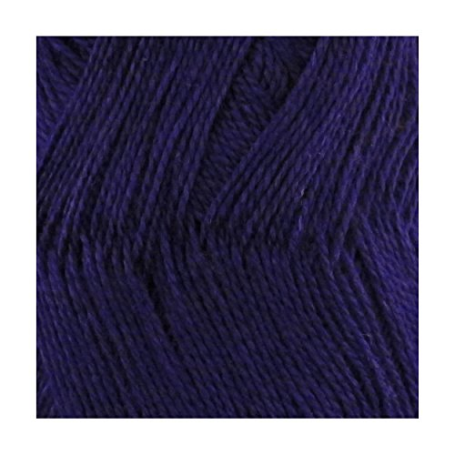 BambooMN Brand - Delightfully Super Soft Bamboo Tencel Fine Yarn - 4 Skeins - Col 24 Romantic Midnight Blue