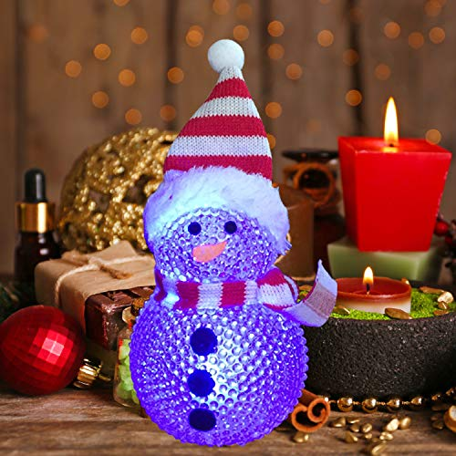 LED Snow Men Christmas Ornaments DIY Home Party Festival Decoration Wreaths Christmas decor animated Snowman christmas lights Christmas snowman toy Christmas decorations gifts Christmas toys decoratio