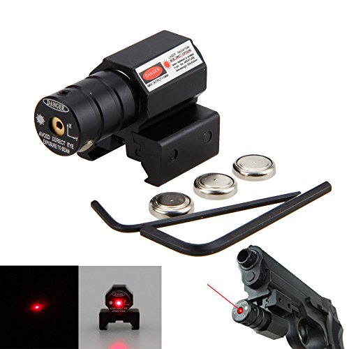 AceZone Mini Red Laser Sight for Handgun Rifle Pistol with P