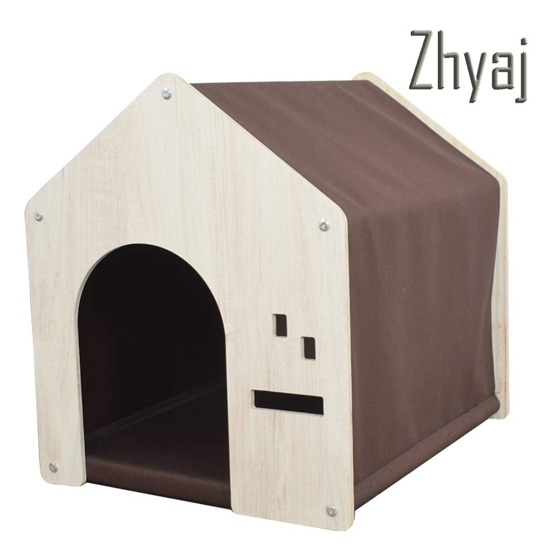 C Garden Furniture, Rainproof Breathable Stable Durable Natural Pine Comfortable Dog Bed 800D Fabric Detachable Easy to Install Ventilation Guinea Pig Cage Outdoor Dog House,C
