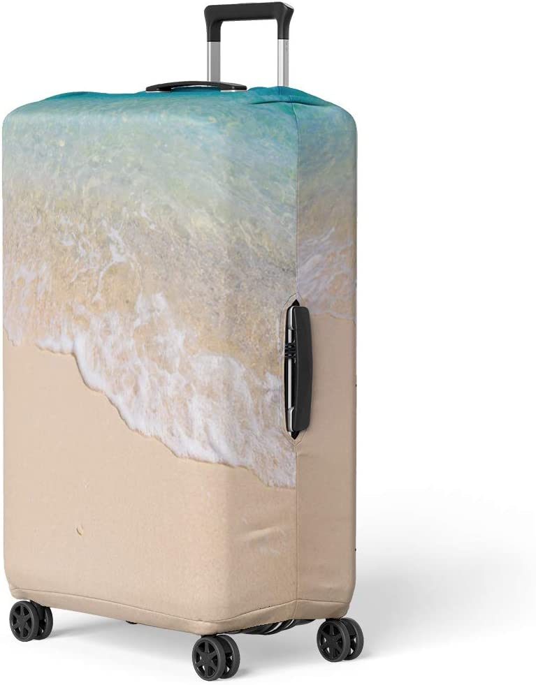 Pinbeam Luggage Cover Blue Tie Dye Indigo Watercolor Effect Shibori Travel Suitcase Cover Protector Baggage Case Fits 18-22 inches