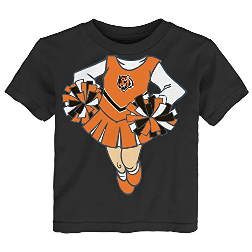 Cincinnati Bengals Cheerleader - NFL Cincinnati Bengals Girls Short Sleeve Tee Dream Cheerleader, Black, 2 Tall