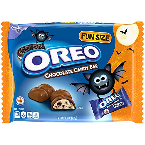 Oreo Chocolate Candy Bars Halloween Candy - 25 Treat Size Packs (10.2oz)