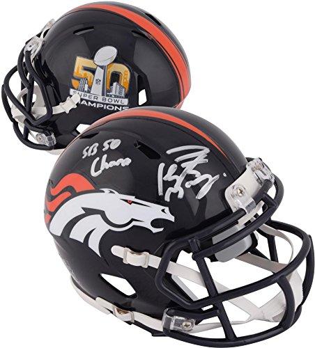 Peyton Manning Denver Broncos Autographed Riddell Super Bowl 50 Champion Mini Helmet with