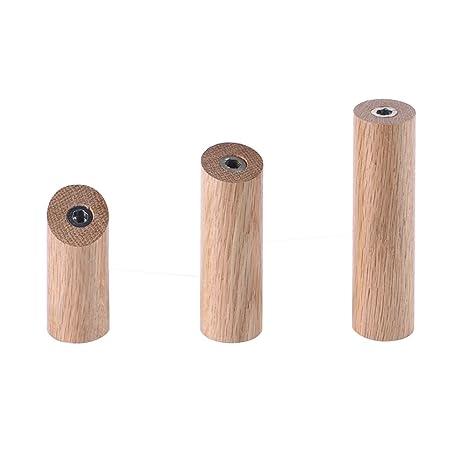 Amazon.com: Gancho para colgar ropa Cilindro de madera ...