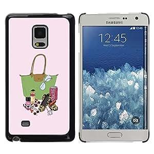 Be Good Phone Accessory // Dura Cáscara cubierta Protectora Caso Carcasa Funda de Protección para Samsung Galaxy Mega 5.8 9150 9152 // Fashion Lady Bag Lipstick Purse Painting