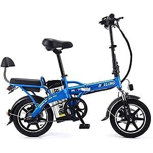 51VmGpKdA6L. SS300 Bicicletta pieghevole elettrica doppia, bicicletta pieghevole leggera e in alluminio con pedali, Power Assist e batteria…