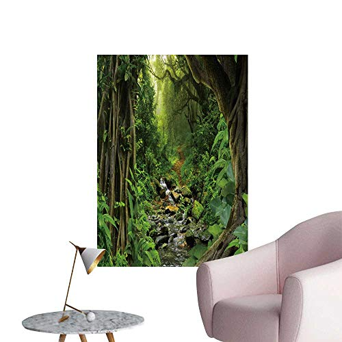 SeptSonne Wall Art Prints Tropical Jungle River for Living Room Ready to Stick on Wall,28