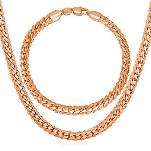 U7 Jewelry Platinum Bracelet Necklace