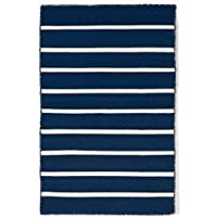 AREA RUGS -SOHO STRIPE INDOOR OUTDOOR RUG - NAVY BLUE - 24 x 36