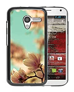Unique DIY Designed Cover Case For Motorola Moto X With Magnolia Blossoms Flower Mobile Wallpaper Phone Case