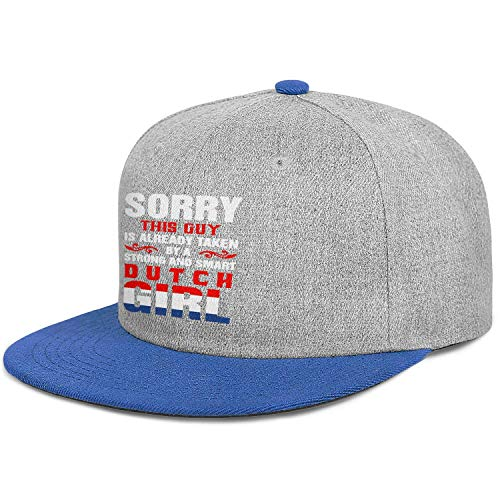 FPPING Sorry This Guy is Already Taken by A Strong and Smart Dutch Girl Flat Bill Baseball Caps Unisex Trucker Cap