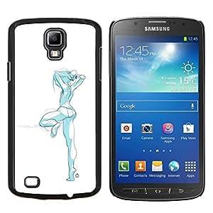 EJOOY---Cubierta de la caja de protección para la piel dura ** Samsung Galaxy S4 Active i9295 ** --diseño de moda sexy ropa interior de niña azul