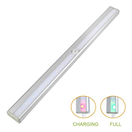 daskoo 0406 + USB recargables 1.5 W PIR sensor de movimiento LED Luz nocturna aleación de