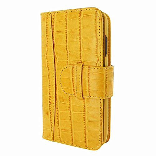 Piel Frama 793 Yellow Crocodile WalletMagnum Leather Case for Apple iPhone X