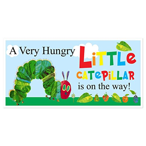 Hungry Caterpillar Baby Shower Banner Custom Party Backdrop Decoration ()