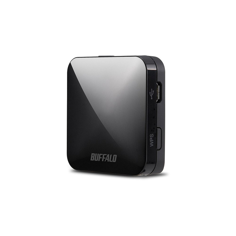 BUFFALO 11ac/n/a/g/b 無線LAN親機(Wi-Fiルーター) ホテル用 433/150Mbps ブラック 【Nintendo Switch動作確認済】 WMR-433W-BK