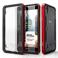 LG Tribute HD Case, Zizo [Shock Series] w/[LG Tribute HD Screen Protector] Clear [Military Grade DropTested] Aluminum Metal Bumper LG Tribute HD LS676
